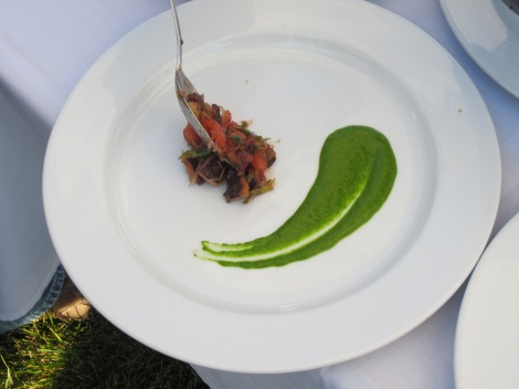 Dish at the Iron Chef Competition