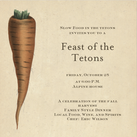 2013 Feast of the Tetons Menu